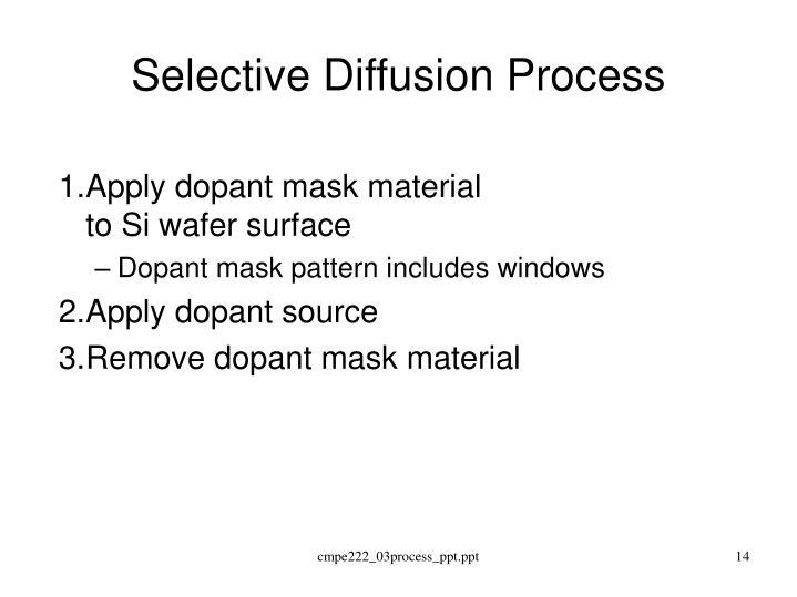 Selective Diffusion Process