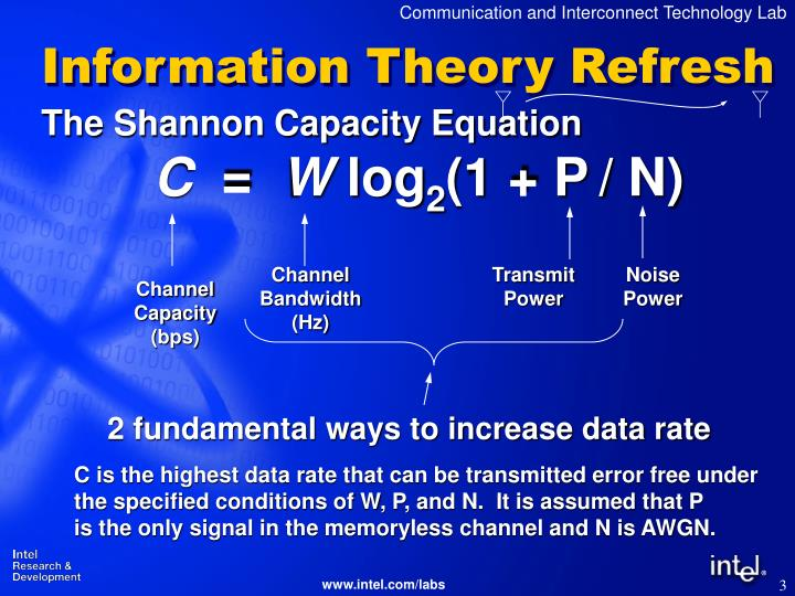 Information theory refresh