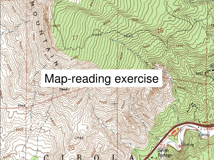 Map-reading exercise