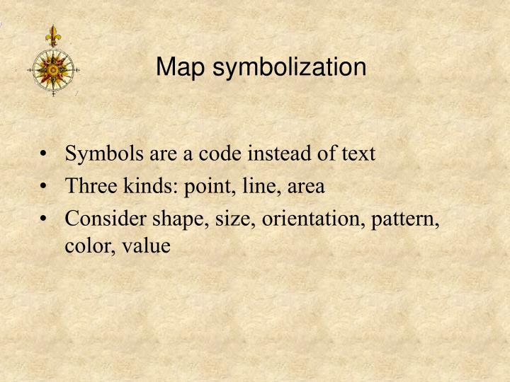 Map symbolization