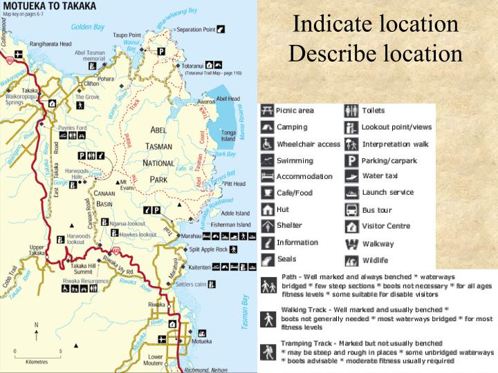 Indicate location