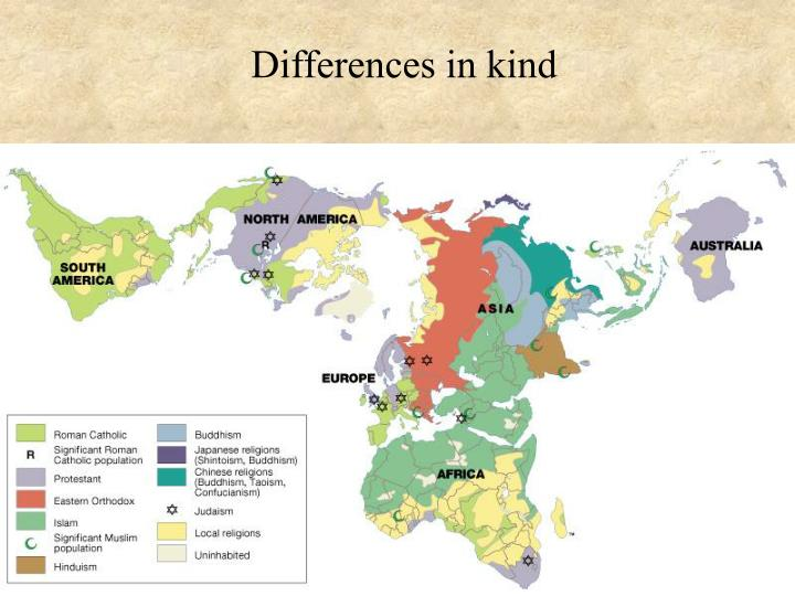 Differences in kind