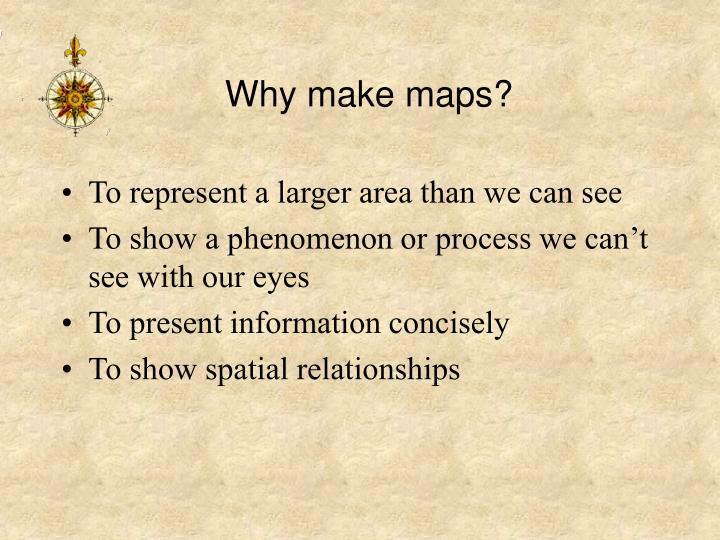 Why make maps