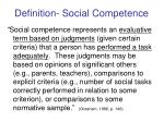 definition social competence