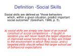 definition social skills