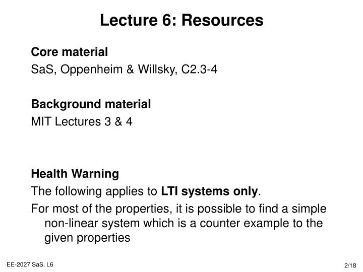 Lecture 6 resources