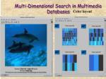 multi dimensional search in multimedia databases