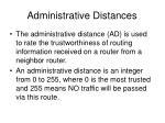 administrative distances