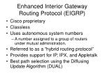 enhanced interior gateway routing protocol eigrp