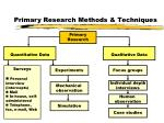 primary research methods techniques