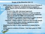 scope of the directive art 2