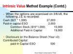 intrinsic value method example contd1