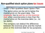 non qualified stock option plans tax issues