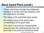 stock award plans contd