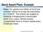 stock award plans example