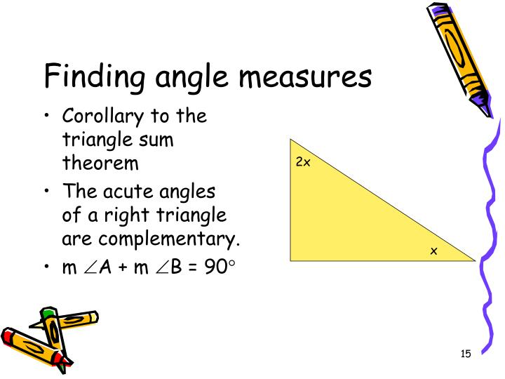 Corollary to the triangle sum theorem