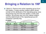 bringing a relation to 1nf2