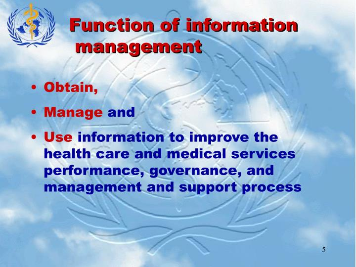 Function of information