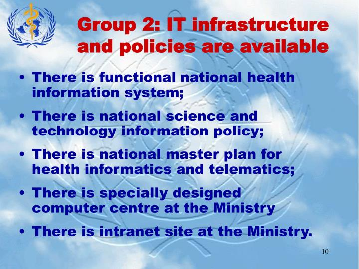 Group 2: IT infrastructure