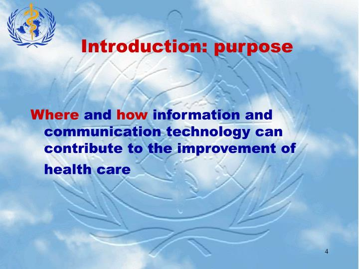 Introduction: purpose