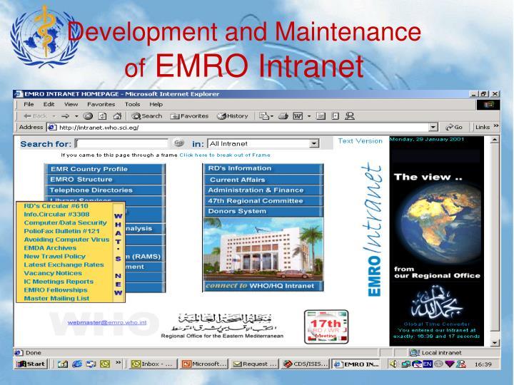 Development and Maintenance