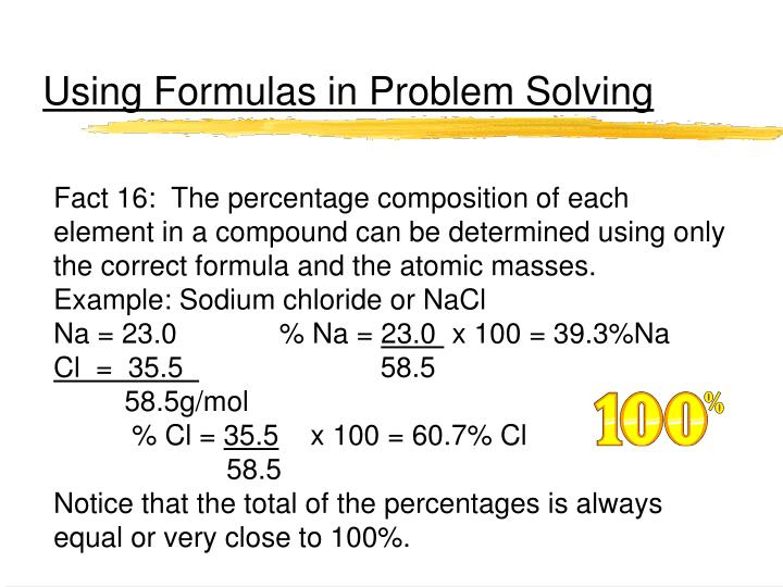 Using Formulas in Problem Solving