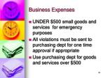 business expenses1