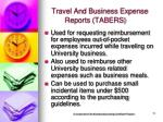 travel and business expense reports tabers