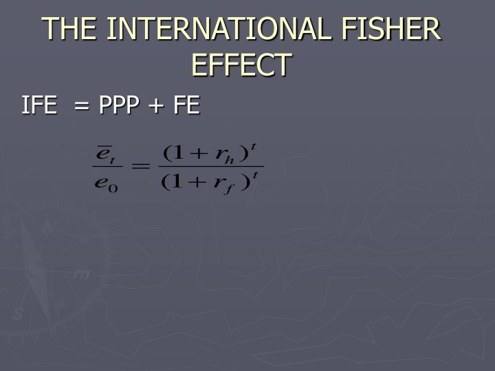THE INTERNATIONAL FISHER EFFECT