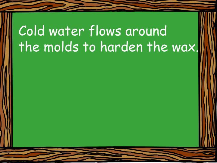 Cold water flows around
