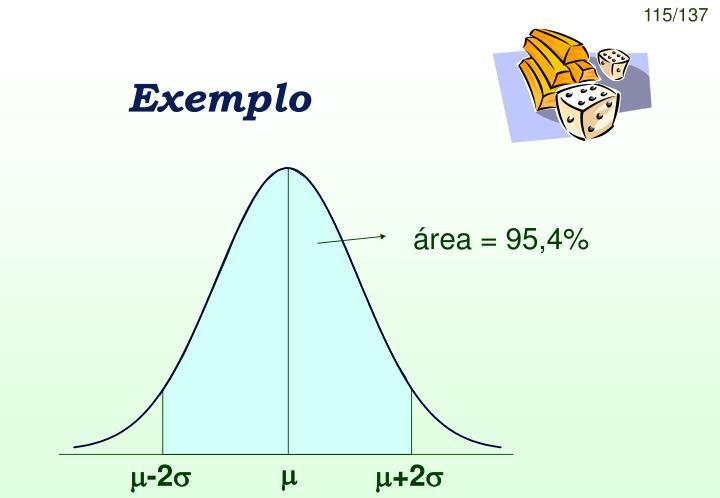 área = 95,4%