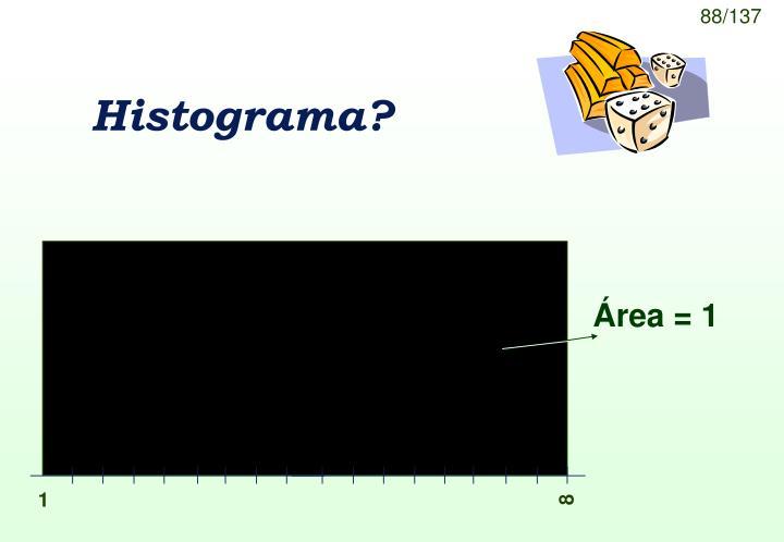 Área = 1