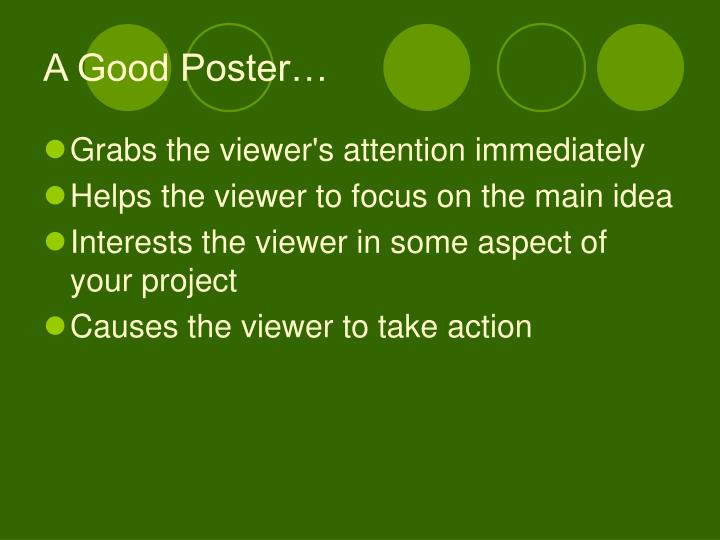 A Good Poster…