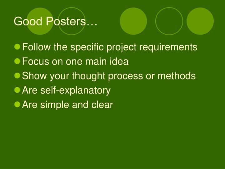 Good Posters…