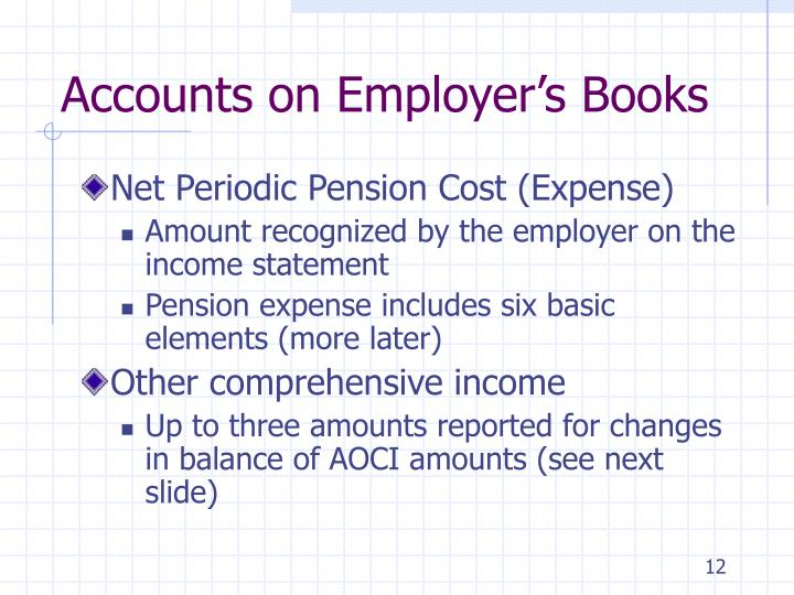 Accounts on Employer's Books