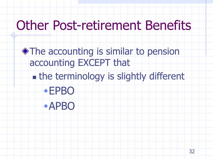 Other Post-retirement Benefits