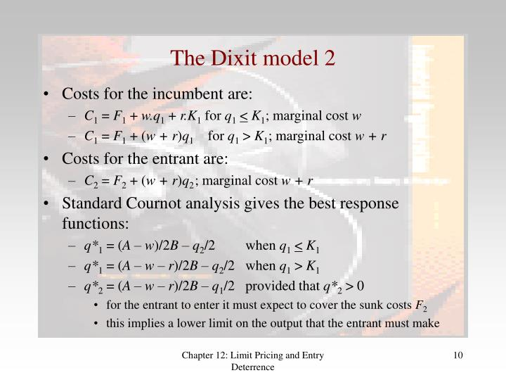 The Dixit model 2