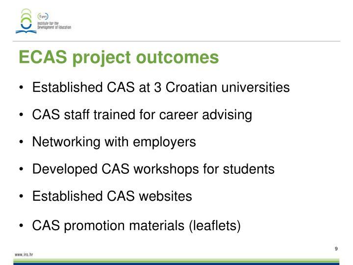 ECAS project outcomes