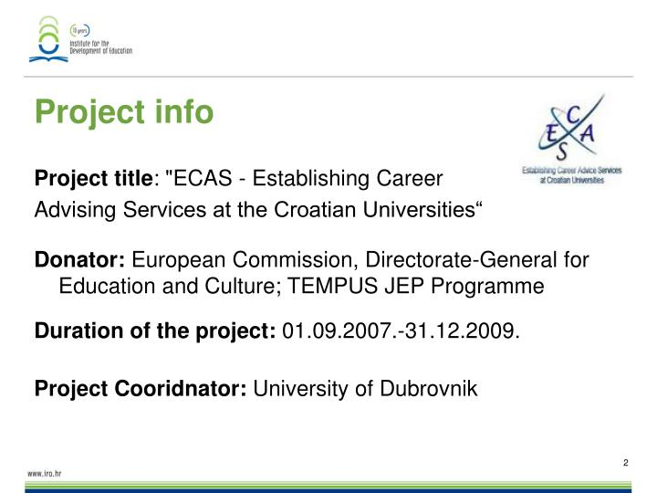 Project info