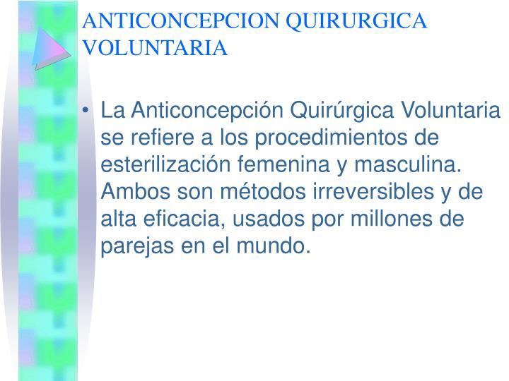 ANTICONCEPCION QUIRURGICA