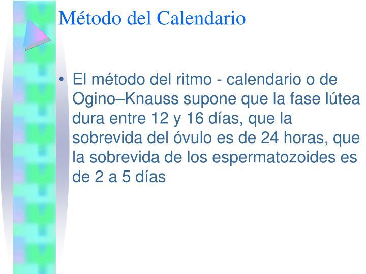 Método del Calendario