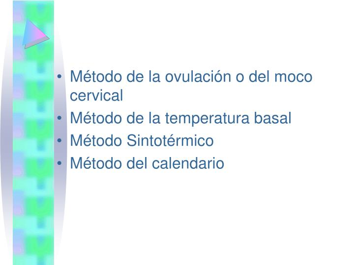 Método de la ovulación o del moco cervical