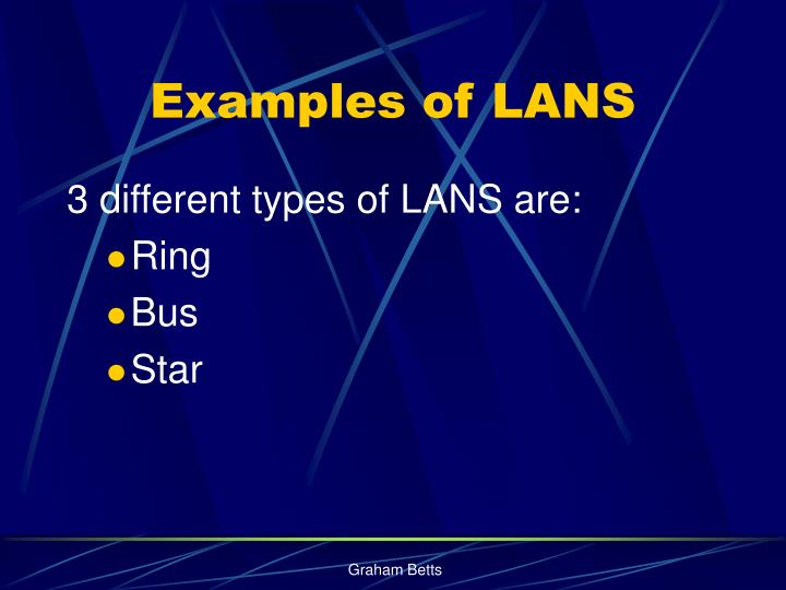 Examples of LANS