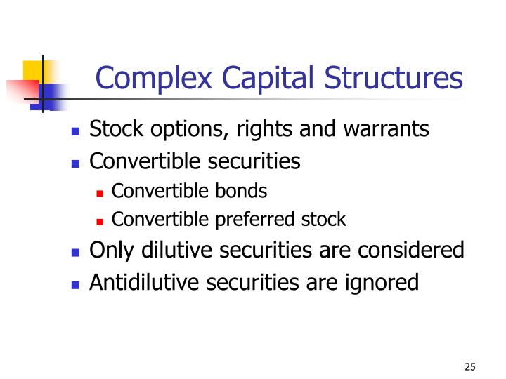 Complex Capital Structures