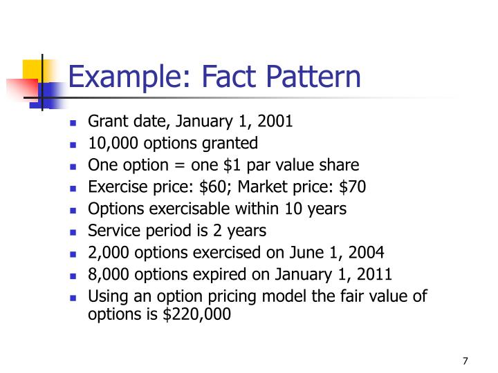 Example: Fact Pattern