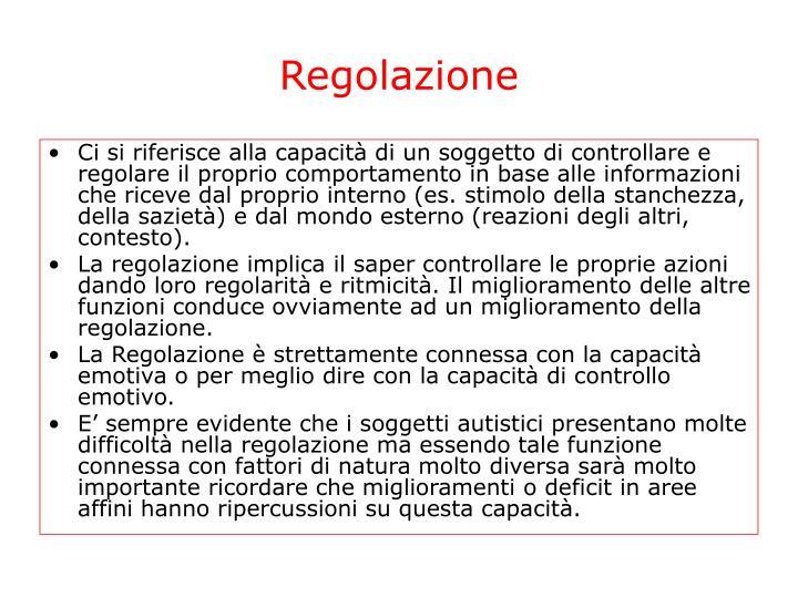 Regolazione