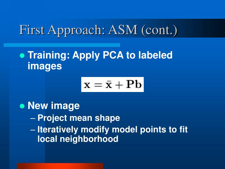First Approach: ASM (cont.)