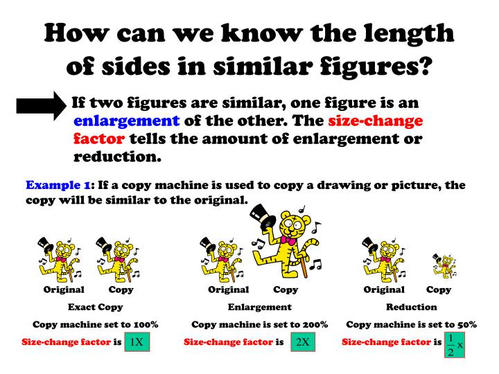 How can we know the length of sides in similar figures?