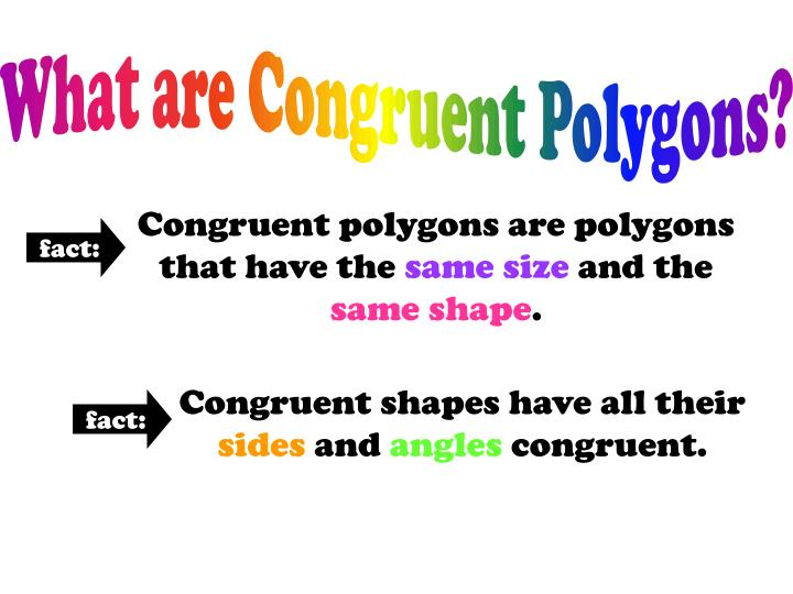 What are Congruent Polygons?