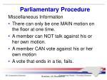 parliamentary procedure9